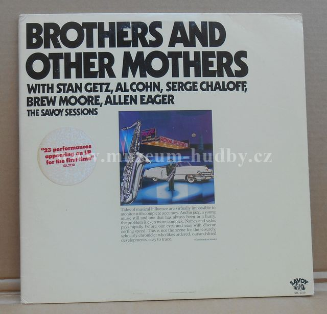 "Stan Getz, Al Cohn, Serge Chaloff, Brew Moore, Allen Eager: Brothers And Other Mothers - Vinyl(33"" LP)"