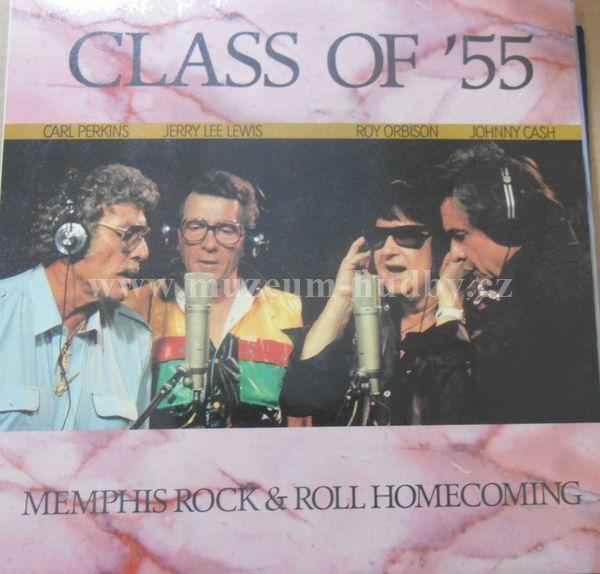 "Class Of '55 = Carl Perkins / Jerry Lee Lewis / Roy Orbison / Johnny Cash: Memphis Rock & Roll Homecoming - Vinyl(33"" LP)"