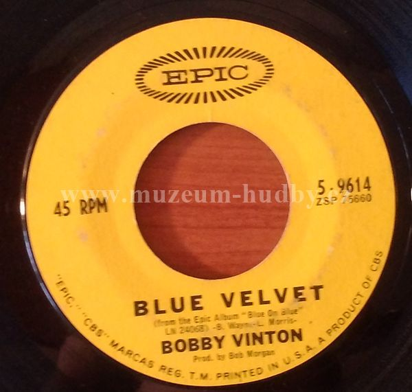 """Bobby Vinton: Blue Velvet / Is There A Place (Where I Can Go) - Vinyl(45"""" Single)"""