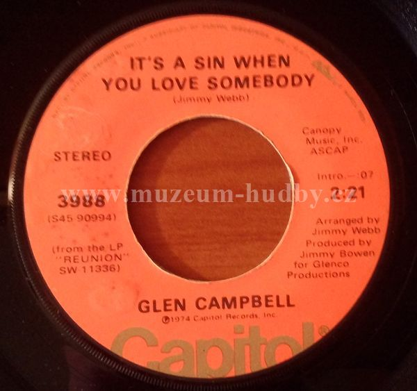 Glen Campbell If I Were Loving You It S A Sin When You