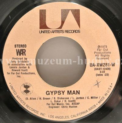 """War: Gypsy Man / Deliver The Word - Vinyl(45"""" Single)"""