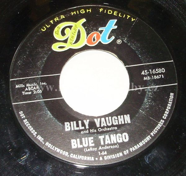 "Billy Vaughn And His Orchestra: Boss / Blue Tango - Vinyl(45"" Single)"