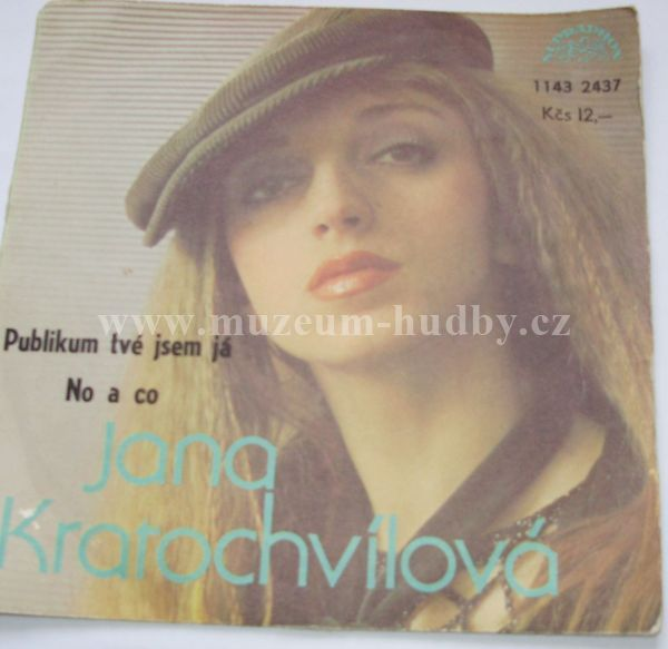 """Jana Kratochvílová: Publikum Tvé Jsem Já / No A Co - Vinyl(45"""" Single)"""