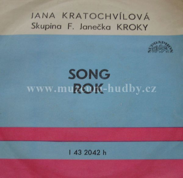 "Jana Kratochvílová, Skupina F. Janečka Kroky: Song / Rok - Vinyl(45"" Single)"