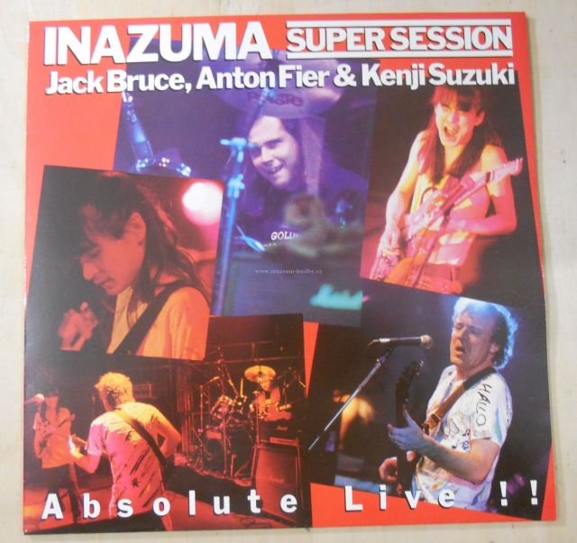 "Jack Bruce, Anton Fier & Kenji Suzuki: Inazuma Super Session - Vinyl(33"" LP)"
