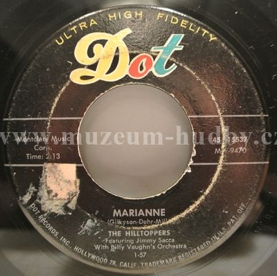 "Hilltoppers, The Featuring Jimmy Sacca With Billy Vaughn's Orchestra: Marianne / You're Wasting Your Time - Vinyl(45"" Single)"