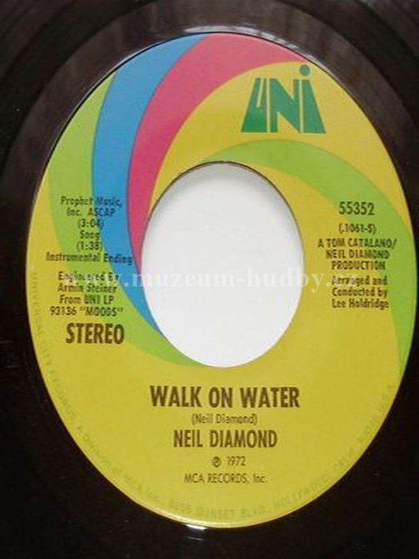 "Neil Diamond: Walk On Water / High Rolling Man - Vinyl(45"" Single)"