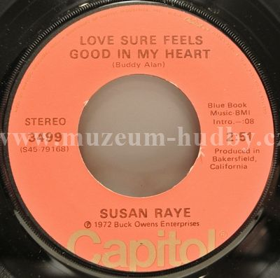 "Susan Raye: Love Sure Feels Good In My Heart / I've Got You On My Mind Again - Vinyl(45"" Single)"