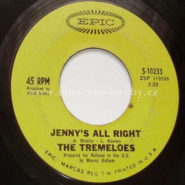 """The Tremeloes: Even The Bad Times Are Good / Jenny's All Right - Vinyl(45"""" Single)"""