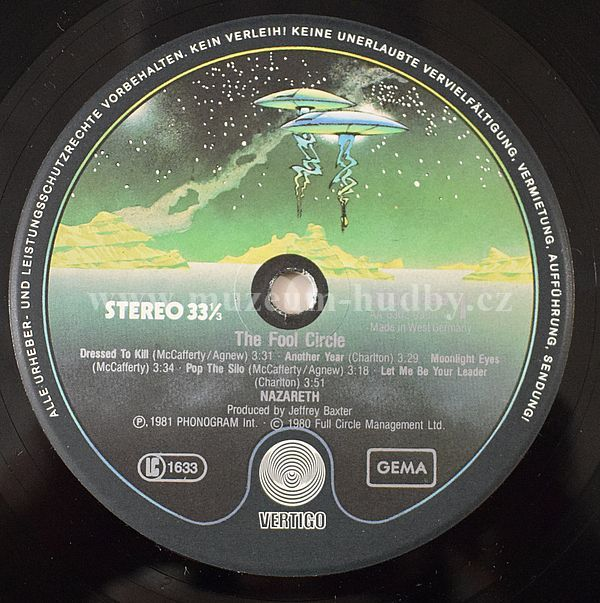 Nazareth The Fool Circle Online Vinyl Shop Gramofonov 233