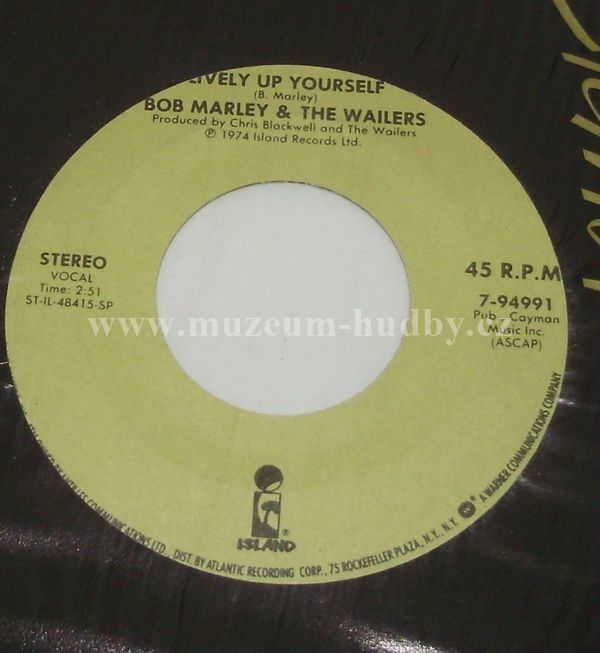 "Bob Marley & The Wailers: Buffalo Soldier / Lively Up Yourself - Vinyl(45"" Single)"
