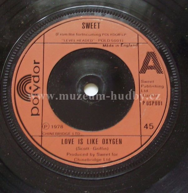 Sweet Love Is Like Oxygen Cover Girl Online Vinyl Shop