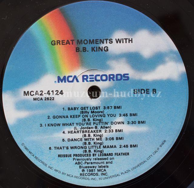 B B King Great Moments With B B King Online Vinyl Shop