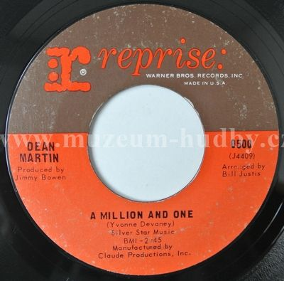 "Dean Martin: A Million To One / Shades - Vinyl(45"" Single)"