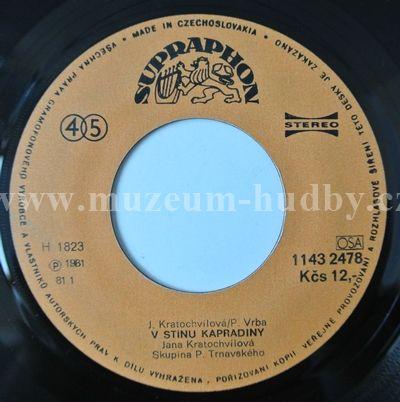 """Jana Kratochvílová: V Stínu Kapradiny / Smaragdové Lasery - Vinyl(45"""" Single)"""