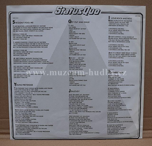 Status Quo 1982 Online Vinyl Shop Gramofonov 233 Desky