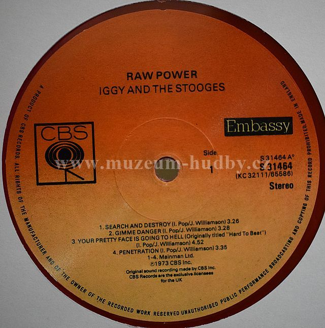 Iggy And The Stooges Raw Power Online Vinyl Shop