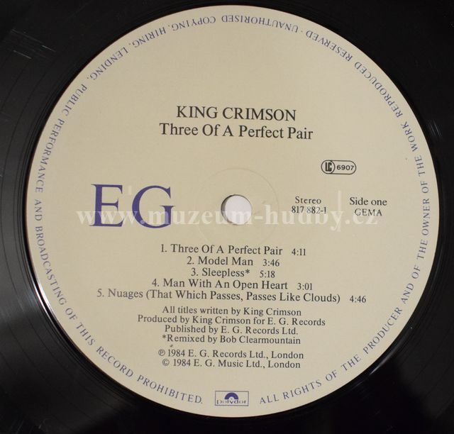 King Crimson Three Of A Perfect Pair Online Vinyl Shop