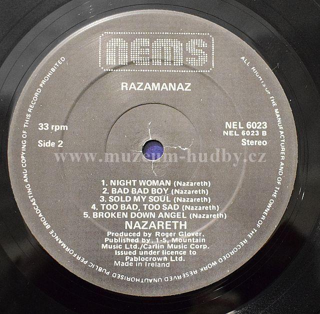 Nazareth Razamanaz Online Vinyl Shop Gramofonov 233 Desky