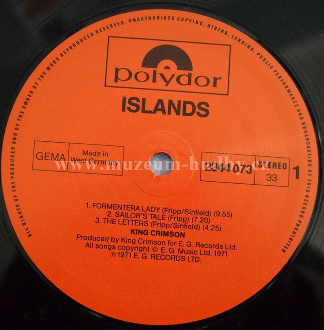 King Crimson Islands Online Vinyl Shop Gramofonov 233 Desky