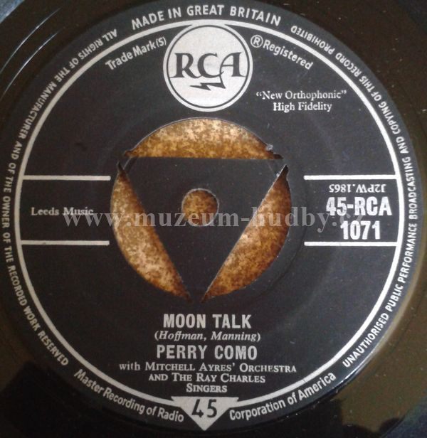 "Perry Como: Moon Talk / Beats There A Heart So True - Vinyl(45"" Single)"