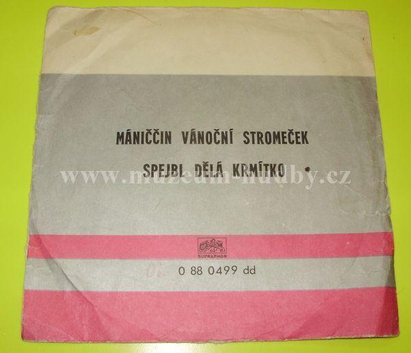 """Spejbl & Hurvínek: Spejbl dělá krmítko / Máninčin vánoční stromeček - Vinyl(45"""" Single)"""