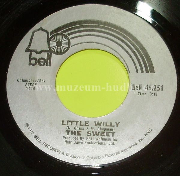 """The Sweet: Little Willy / Man From Mecca - Vinyl(45"""" Single)"""
