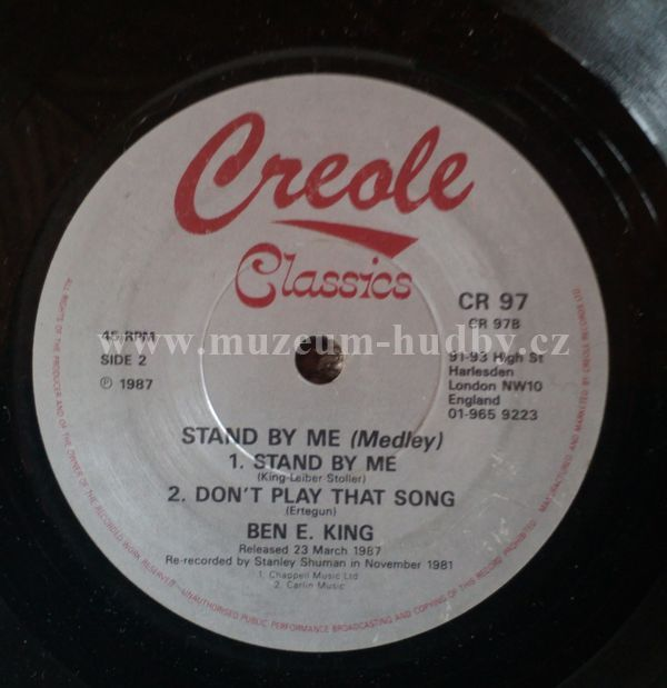 Ben E King Spanish Harlem Stand By Me Medley Don T