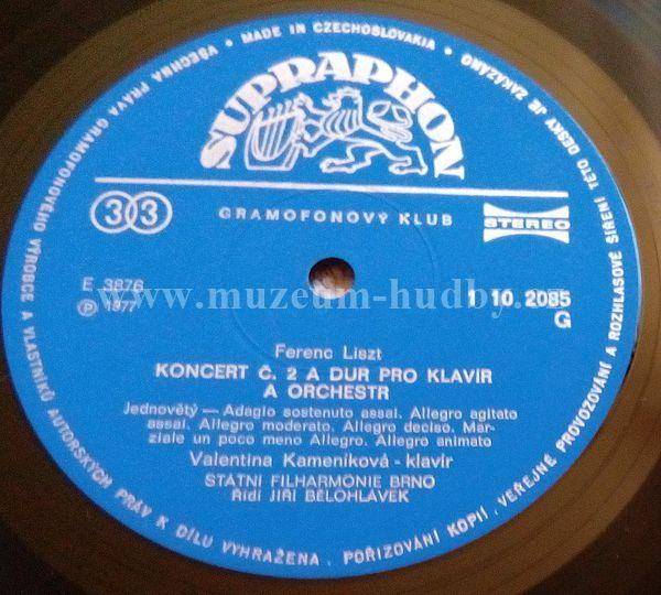 Franz Liszt Valentina Kamen 237 Kov 225 Brno State Philharmonic