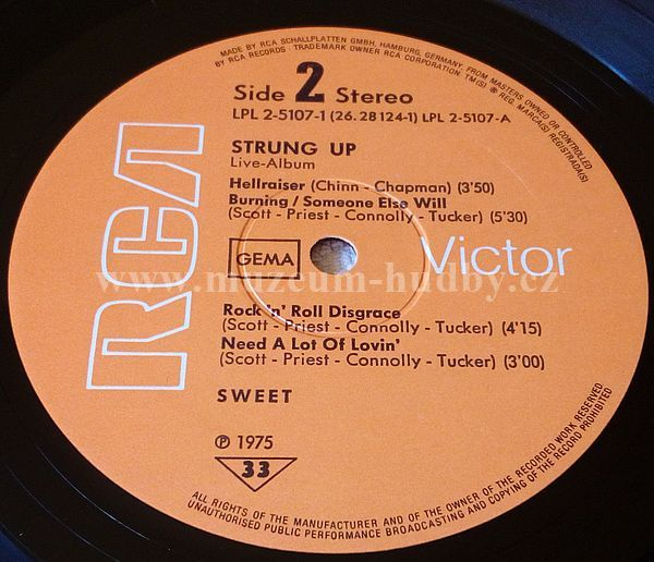 The Sweet Strung Up Online Vinyl Shop Gramofonov 233 Desky